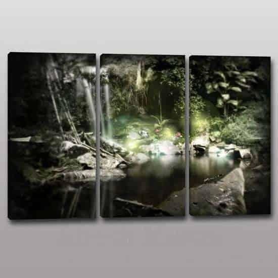 Quadri moderni paesaggio natura relax 3 tele