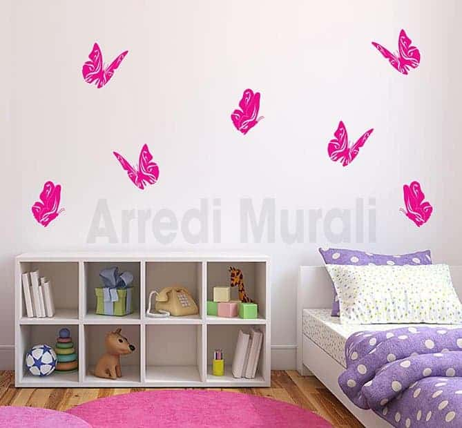 adesivi da parete farfalle decorazioni murali
