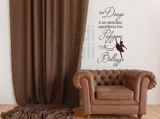 adesivi da parete frase danza