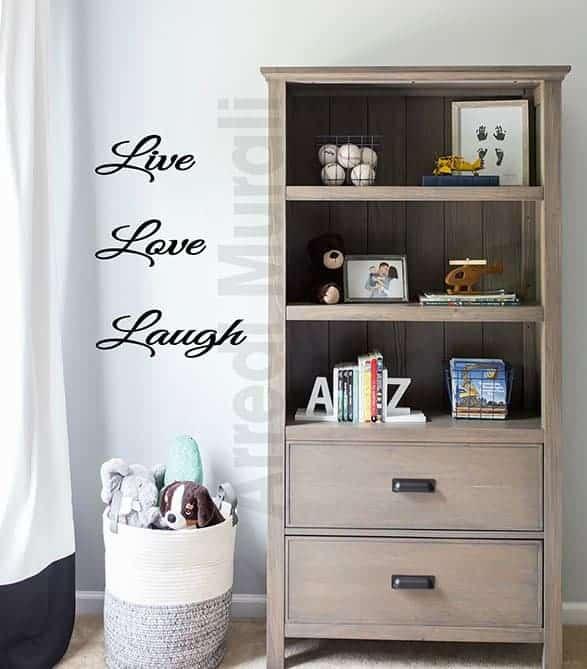 adesivi da parete live love laugh