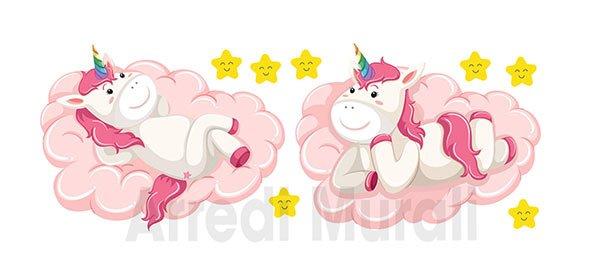 adesivi murali bambini unicorni