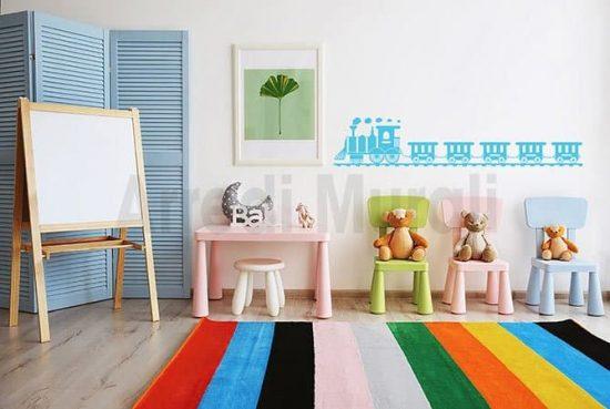 adesivi murali camerette bambini trenino