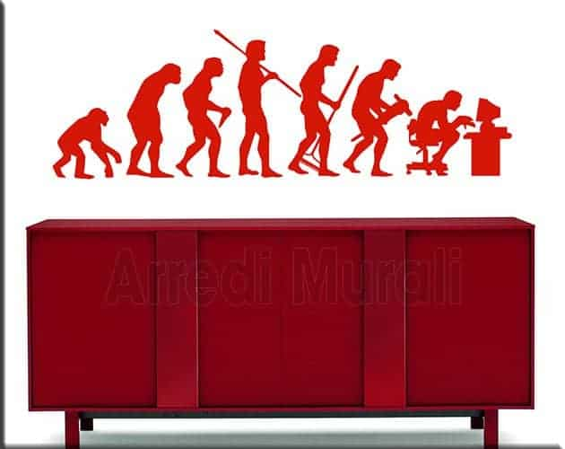 adesivi murali evoluzione uomo