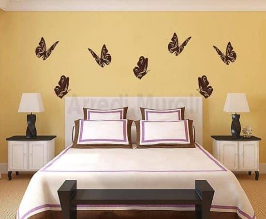 adesivi murali farfalle decorazioni da parete