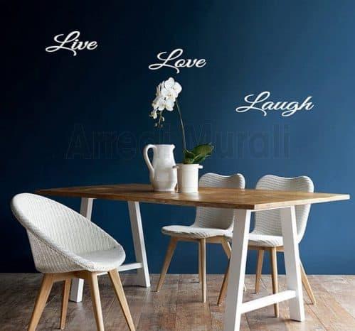 adesivi murali live love laugh
