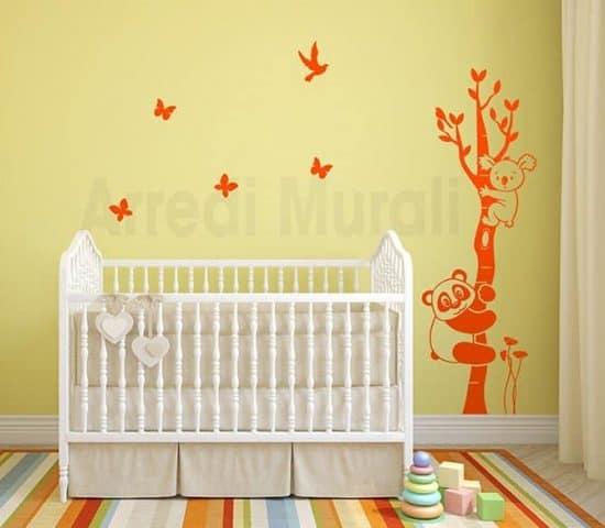 decorazioni adesive murali albero camerette bambini