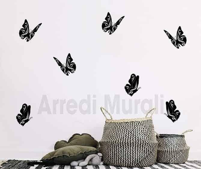 decorazioni da parete farfalle adesivi murali