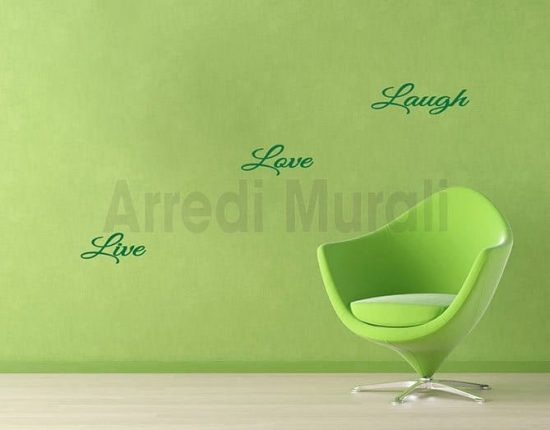 decorazioni da parete live love laugh
