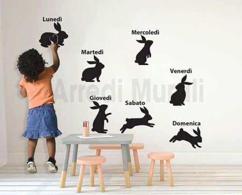 lavagne adesive murali conigli