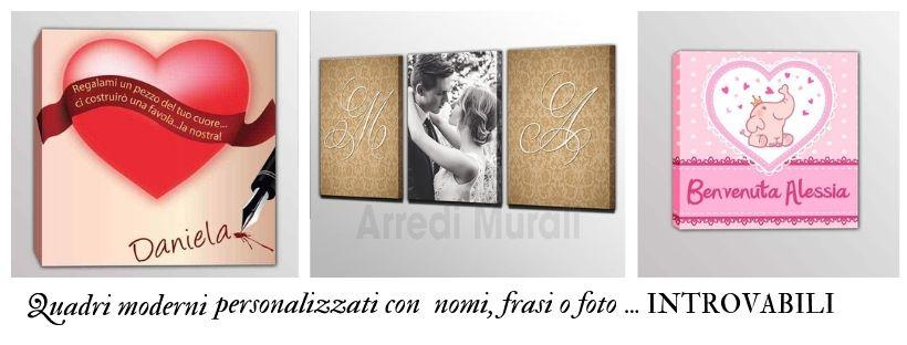 quadri moderni personalizzati nomi frasi foto introvabili