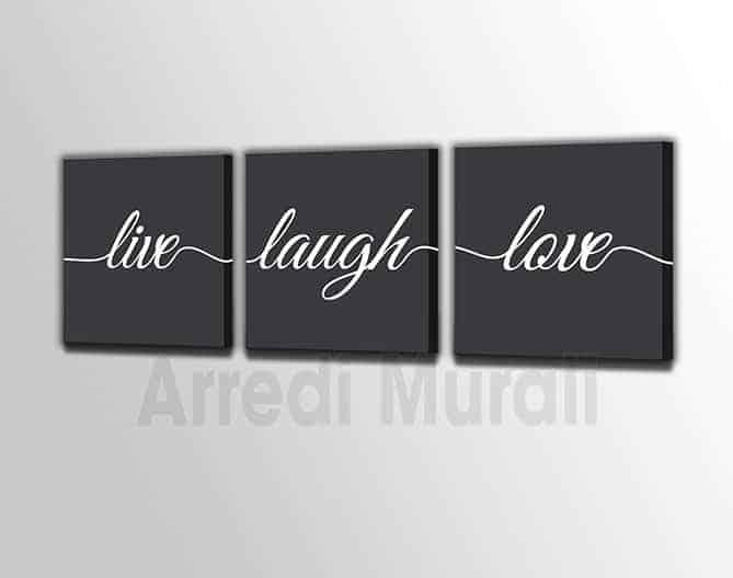 quadri moderni 3 stampe love