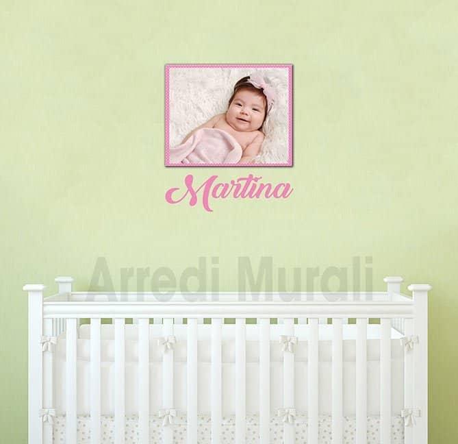 quadro con adesivo personalizzati bambina
