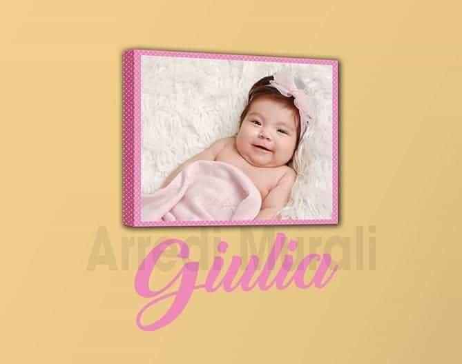 quadro sticker personalizzati bambina