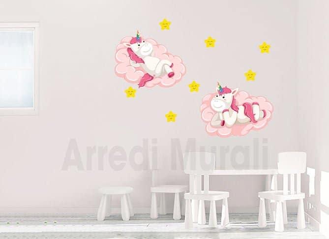 stickers murali bambini unicorni camerette