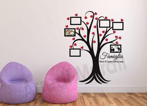 wall stickers albero cornici foto famiglia