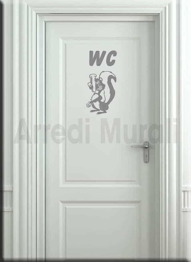 wall stickers bagno wc arredo