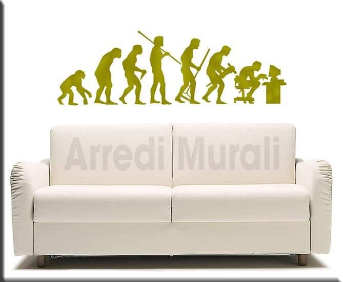 wall stickers evoluzione uomo