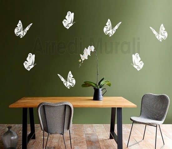 wall stickers farfalle decorazioni da parete