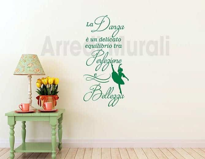 wall stickers frase danza