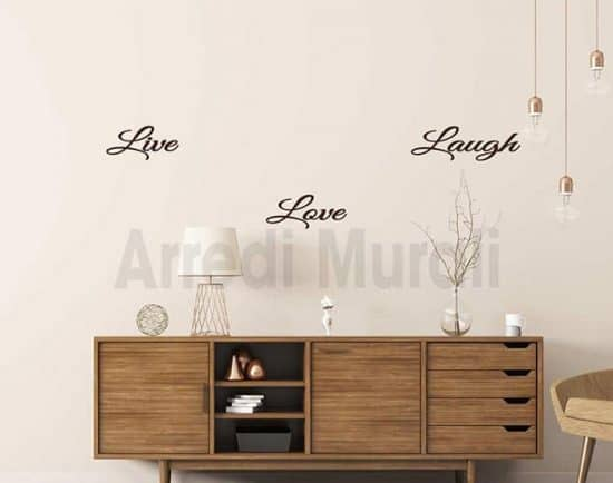 wall stickers live love laugh
