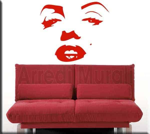wall stickers marilyn monroe volto