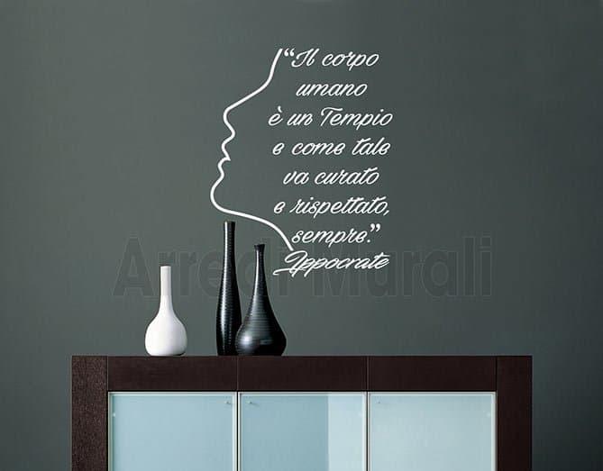Adesivi da parete citazione Ippocrate