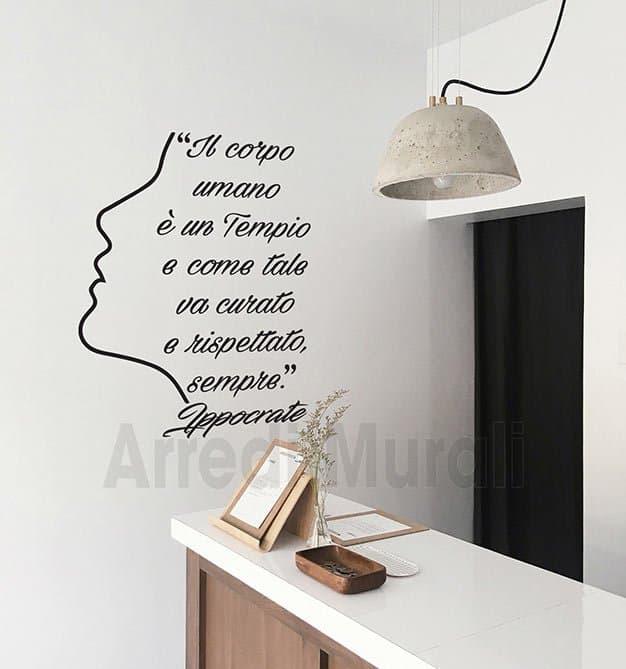 Adesivi murali citazione Ippocrate
