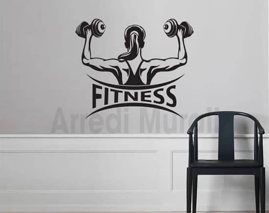 Adesivi murali fitness palestra