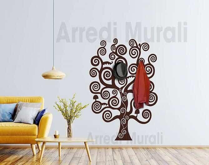 Adesivo Parete Albero Della Vita.Sticker Murale Appendiabiti Albero Della Vita Ws1583