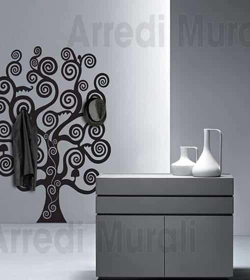 Sticker murale appendiabiti albero della vita