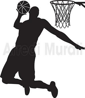 adesivi da muro basketball pallacanestro