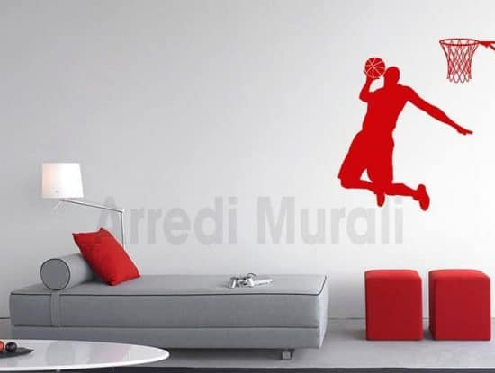 adesivi da parete basketball pallacanestro