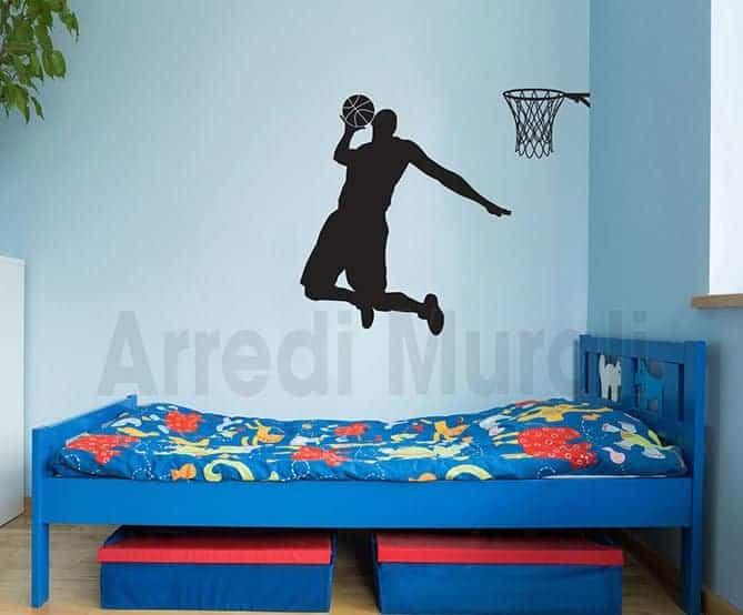 adesivi murali basketball pallacanestro