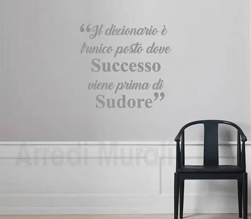 decorazioni adesive da parete frase motivazionale