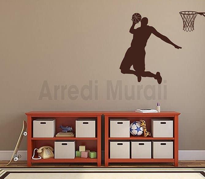 stickers murali basketball pallacanestro
