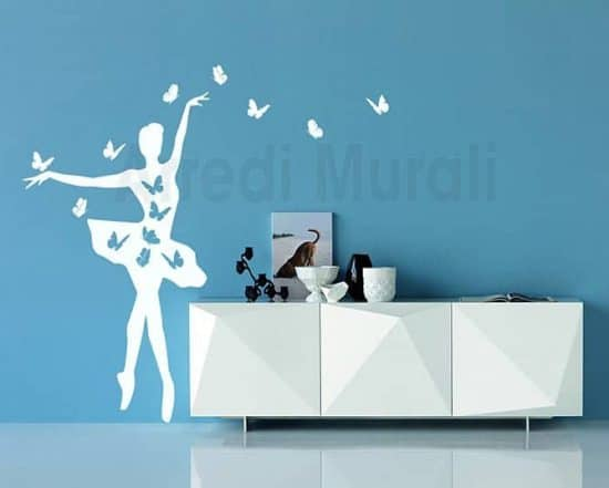 wall stickers ballerina farfalle
