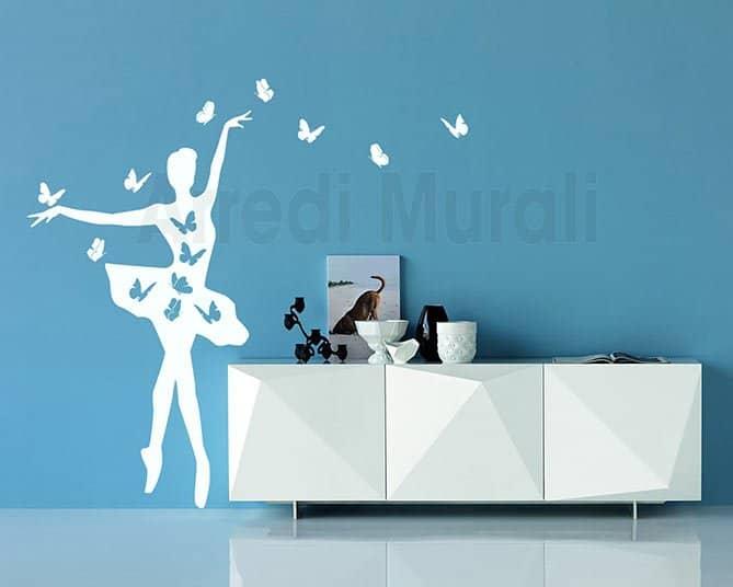 wall stickers ballerina farfalle
