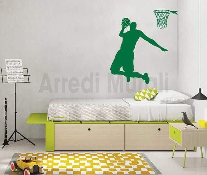 wall stickers basketball pallacanestro