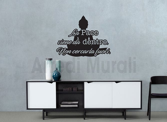 wall stickers frase buddha
