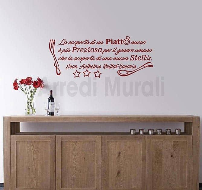 Adesivi da parete frase cucina decorazioni murali