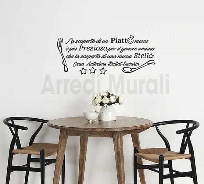 Adesivi murali frase cucina decorazioni da parete