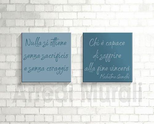 quadri moderni frase gandhi