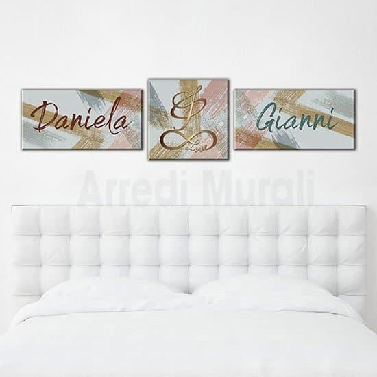 Quadri moderni nomi personalizzati astratti arredo pareti