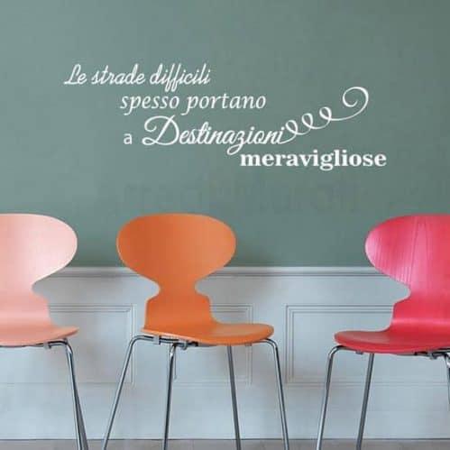 Stickers da parete decorazioni frase motivazionale bianco