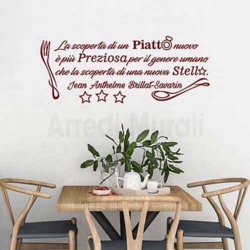 Stickers murali frase cucina decorazioni adesive bordeaux