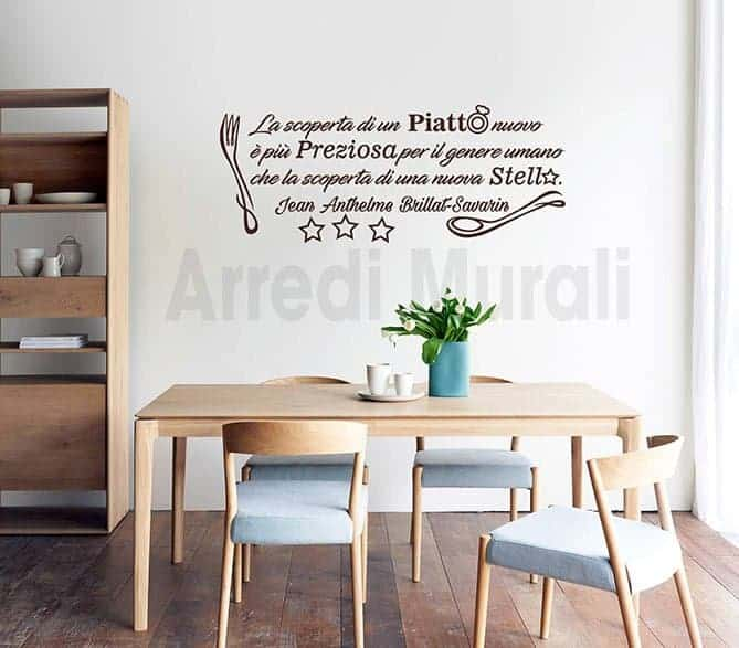 Stickers murali frase cucina decorazioni da parete