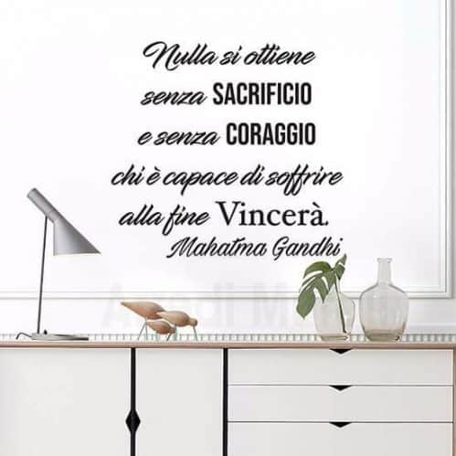 Wall stickers frase Gandhi nero
