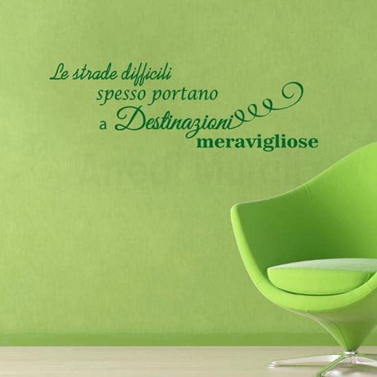 Stickers da parete decorazioni frase motivazionale verde