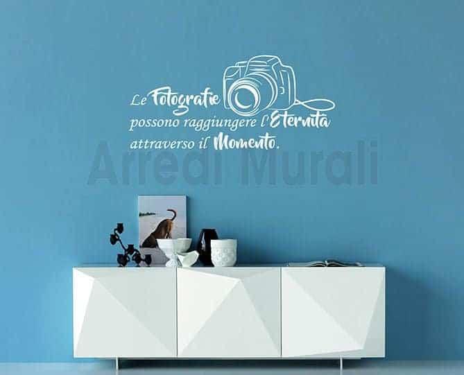 adesivi da parete frase fotografia decorazioni murali