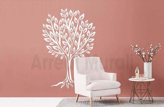 adesivi murali albero stilizzato